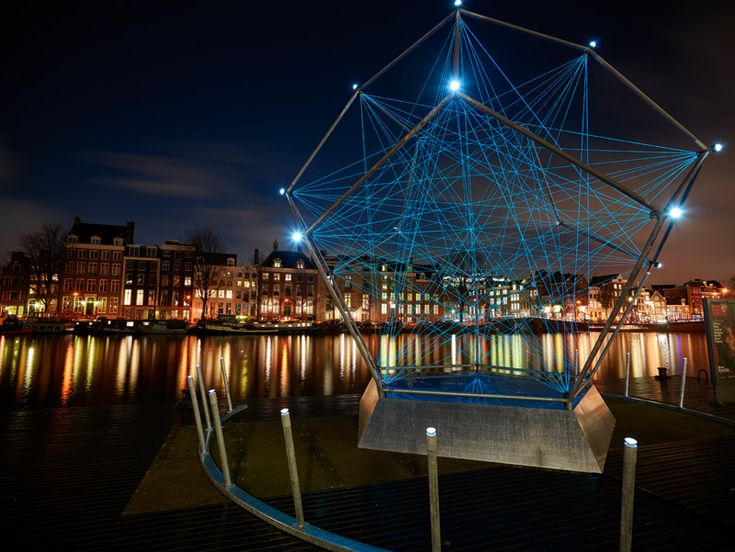 Uniting Lightstar by Venividimultiplex  The Amsterdam Light Festival Brightens The City At Night