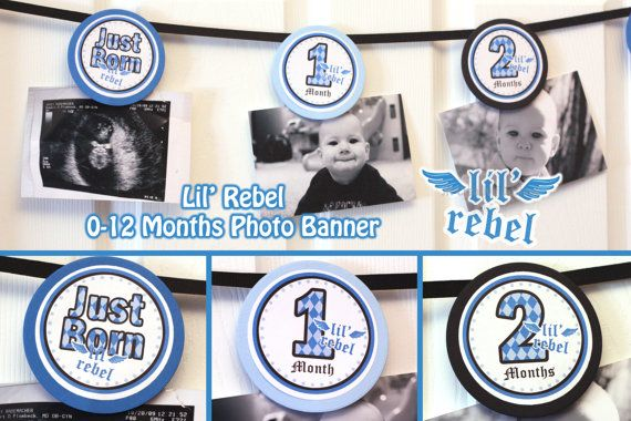 Lil Rebel Photo Banner 12 months photo banner by JRCreativeDesigns, $8.99