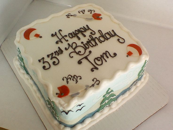 fishing theme - Carrot cake with creamcheese icing and ...