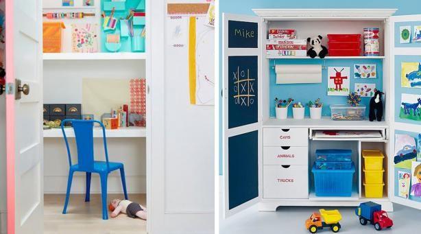 11 best d co enfant cr ative images on pinterest - Fabriquer un bureau pour enfant ...