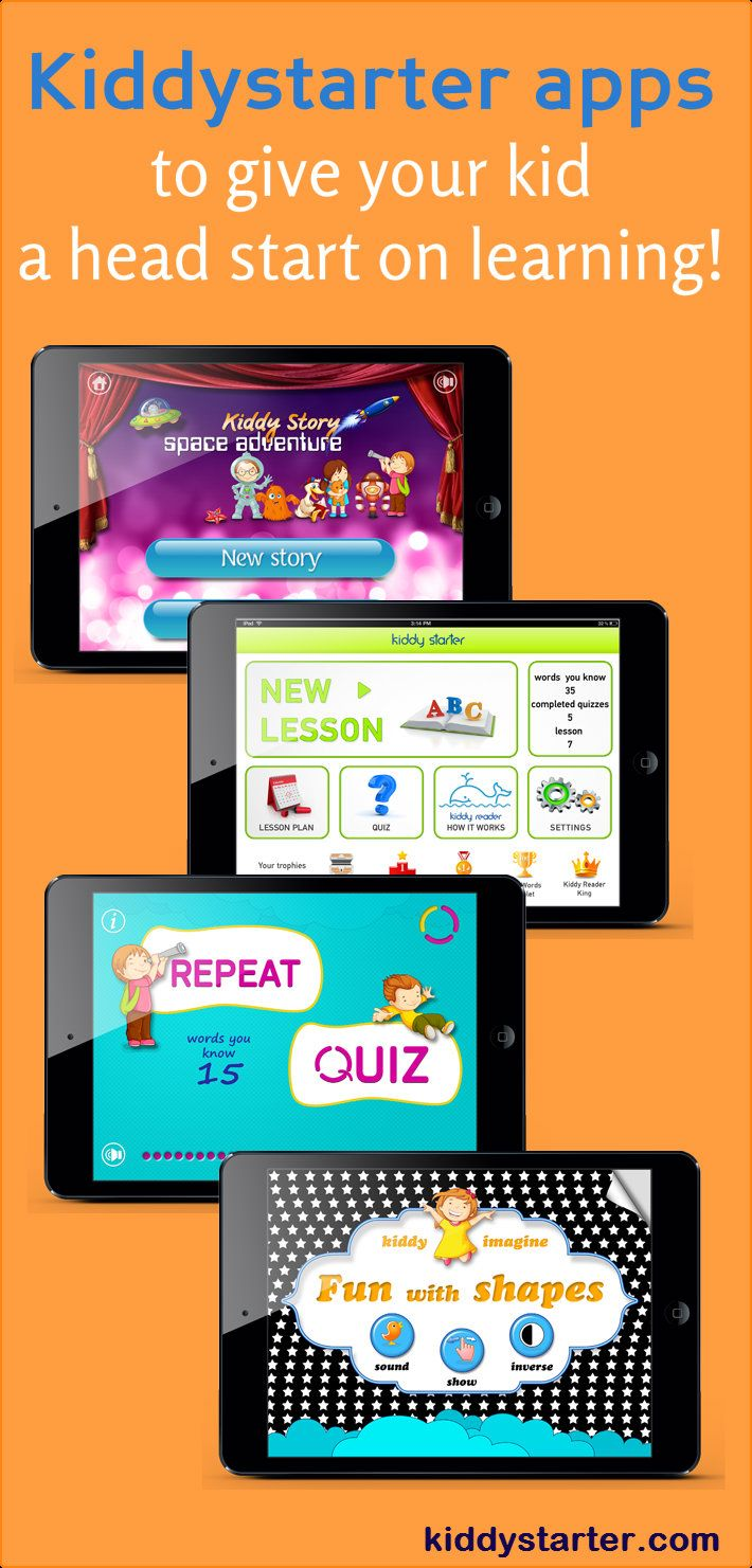 Kiddystarter apps to give your kid a head start on learning!