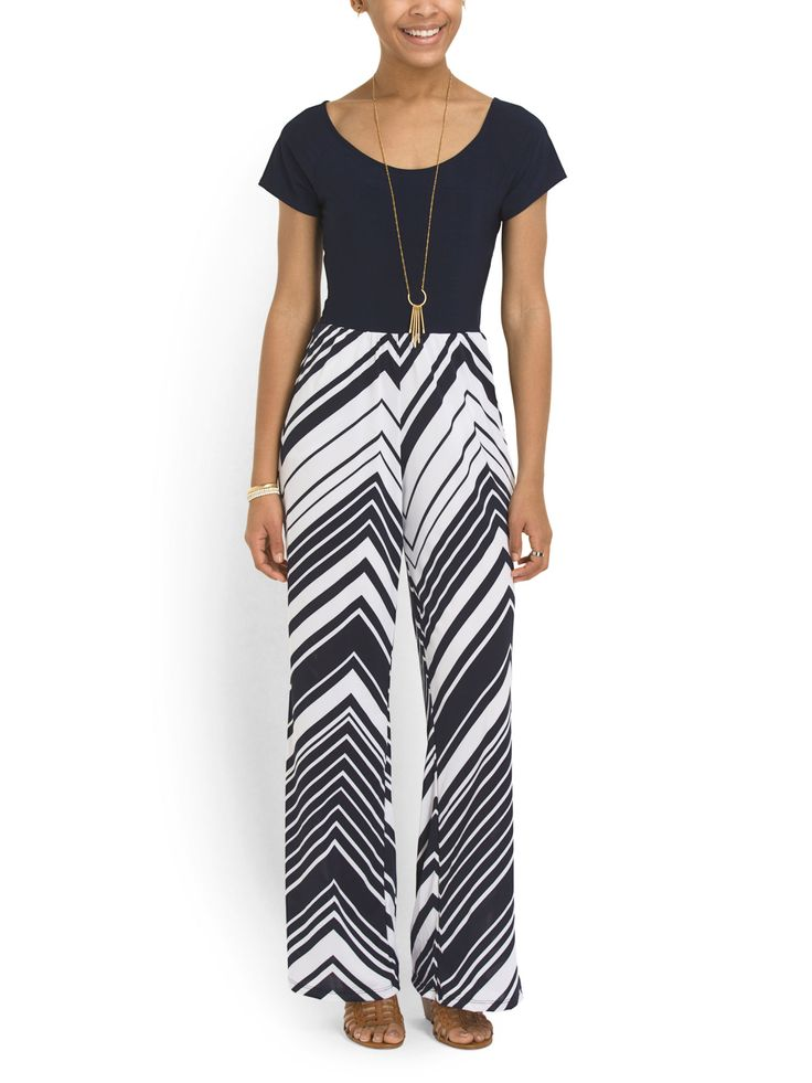 This Chevron Jumpsuit Would Be Perfect For A Day At The Office Or Night On  The