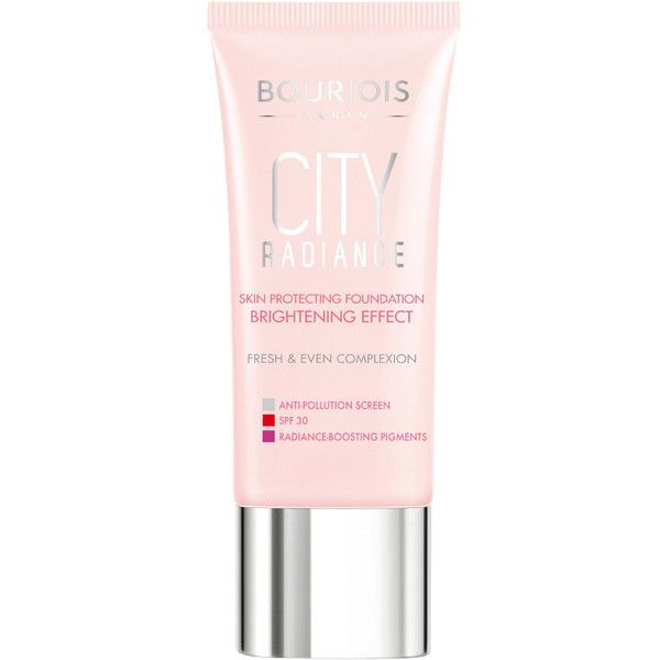 Bourjois City Radiance Foundation (Various Shades) (€13) ❤ liked on Polyvore featuring beauty products, makeup, face makeup, foundation, bourjois foundation, moisturizing foundation, liquid foundation, bourjois and hydrating foundation