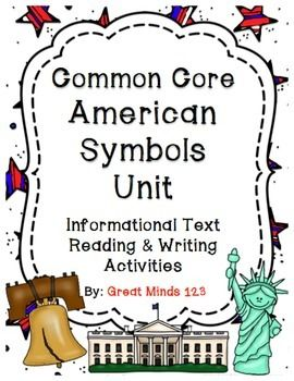 Great American Symbols book withs statue of liberty, liberty bell, white house, bald eagle, and more!