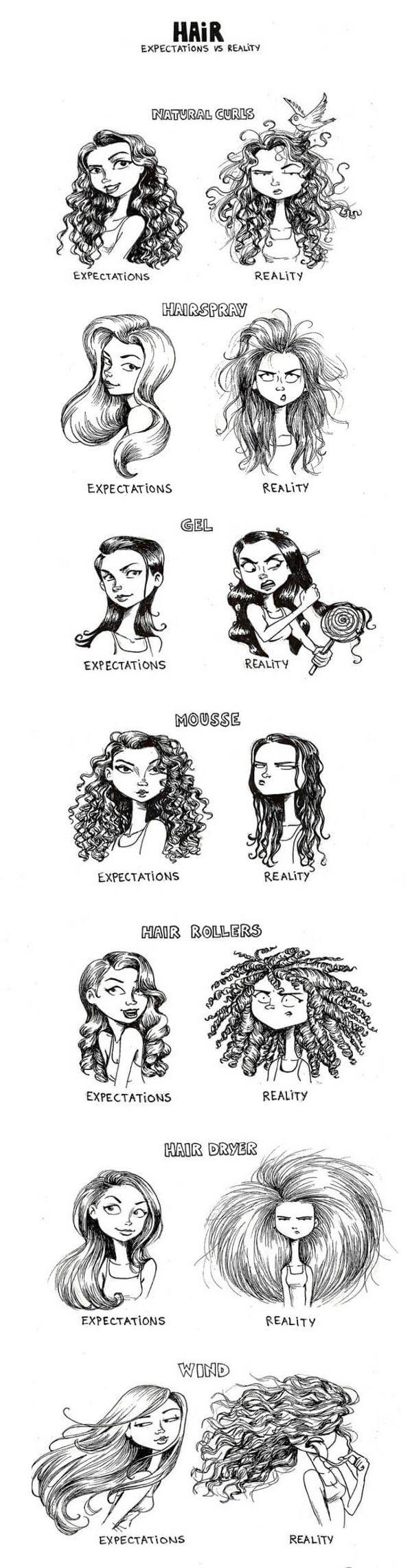 El pelo de la mujer: Expectacion VS realidad
