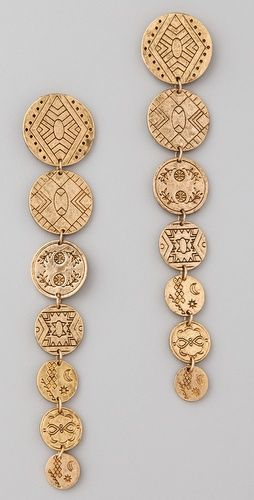LOVE. Always looking for earrings that will look cool in long hair. I think these would really stand out.