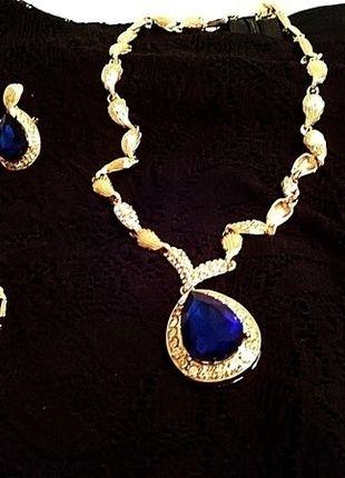 Kup mój przedmiot na #vintedpl http://www.vinted.pl/akcesoria/bizuteria/12346349-mieniacy-sie-kobaltowy-zestaw-bizuterii