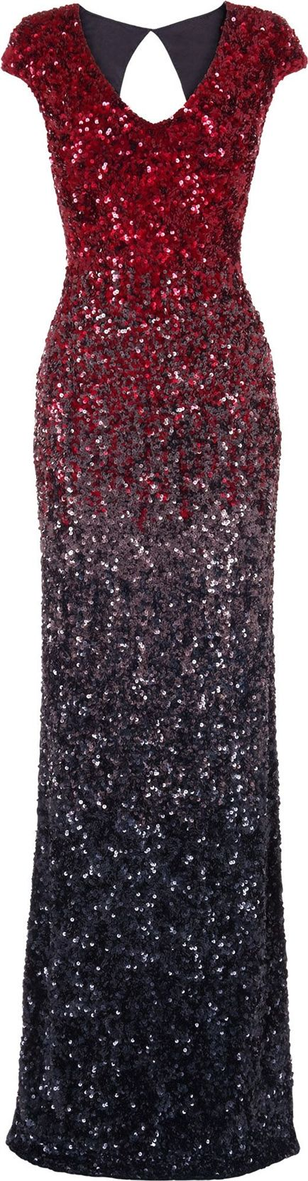 Phase Eight Phase Eight Collette sequin full length dress, Ruby