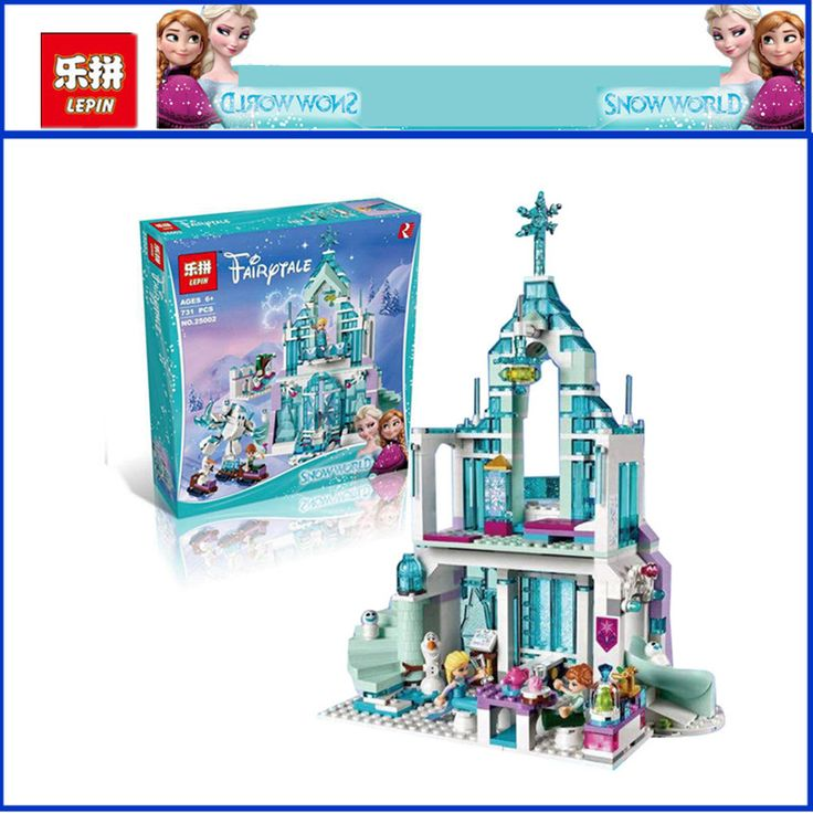 ==> [Free Shipping] Buy Best IN STOCK Lepin 25002 731pcs The Snow World Series The Elsas Magical Ice Castle Set Building Blocks Bricks Toys Girl with gifts Online with LOWEST Price | 32799908195