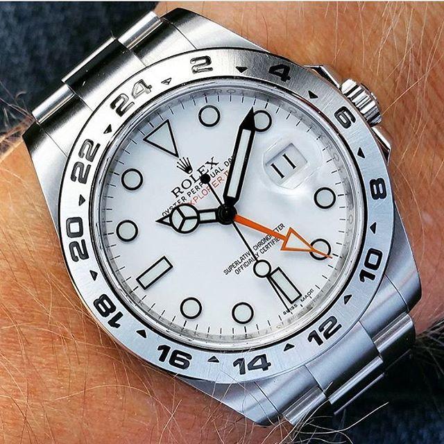 ▫️▫️216570 Rolex Explorer II▫️▫️ Classic Piece! How do you like it?!? By: @loevhagen