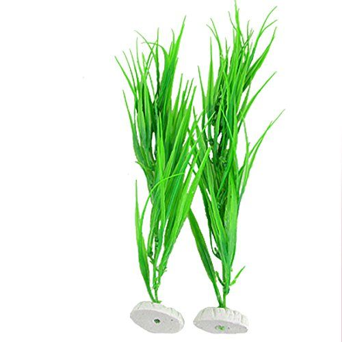 From 11.57 Sourcingmap Plastic Fish Tank Grass/plants 14.2-inch 2 Pieces Green