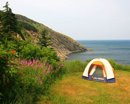 Camp by the sea in beautiful Nova Scotia.. I can't believe we get 3 whole weeks to vacay up here.. only 10 more months, haha <3