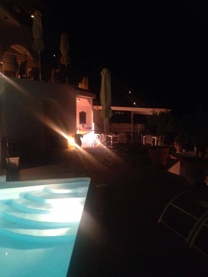 First dinner by the #pool at #Esperas #Santorini for 2014!