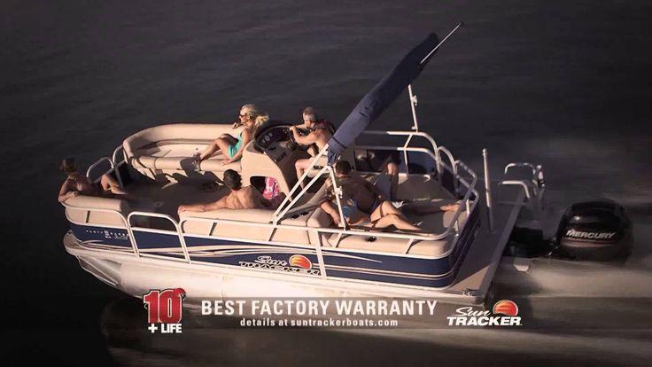 """Sun Tracker 10 + Lifetime Warranty: """"The Best Warranty in the Pontoon Bu..."""