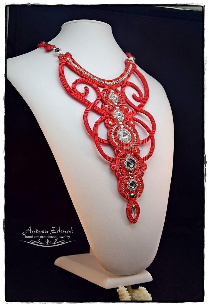 Soutache necklace - Andrea Zelenak  - Dance