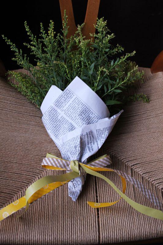Du masking tape en touche finale pour un bouquet personnel