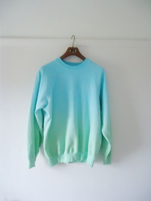 green blue gradient sweater