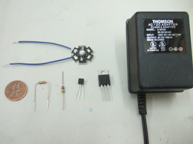 Power LED's - simplest light with constant-current circuit