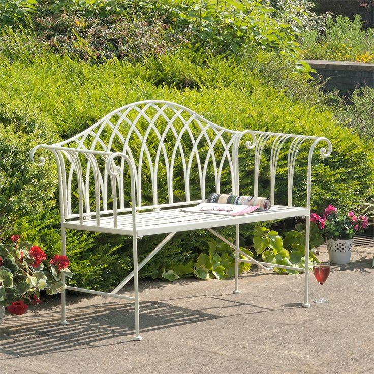 Gloucester 2 Seat White Cast Iron Bench. 10 best Garden Furniture images on Pinterest