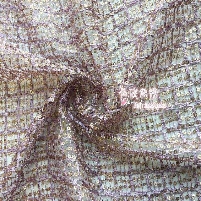 11 цвета hollow Чистая Сетки сплошного блестка ткани Розы шаблон с кристалл блестки Мода ткань для DIY одежда аксессуары