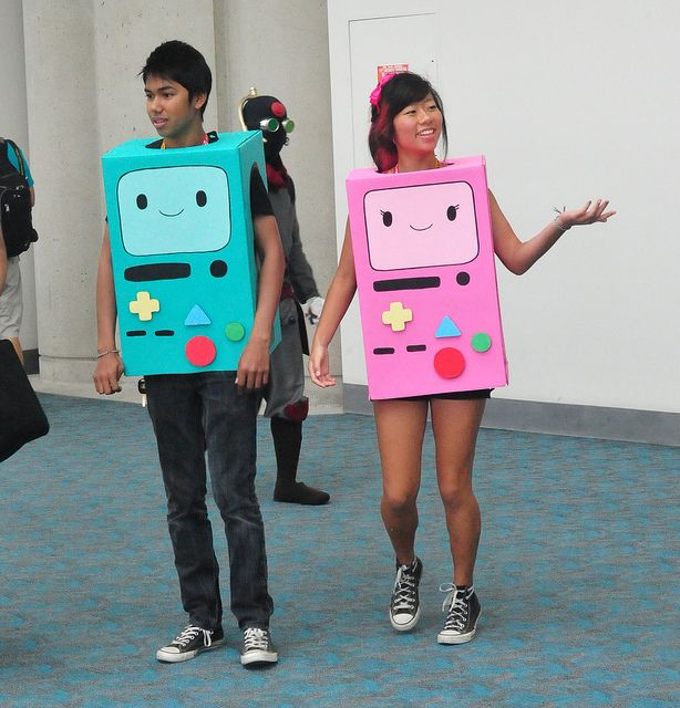 Me and my future boyfriend shall cosplay as this :-) Yes. This is now on my list of future things to do, bruh. <3 Too cute! Bmo and Gmo from Adventure Time!