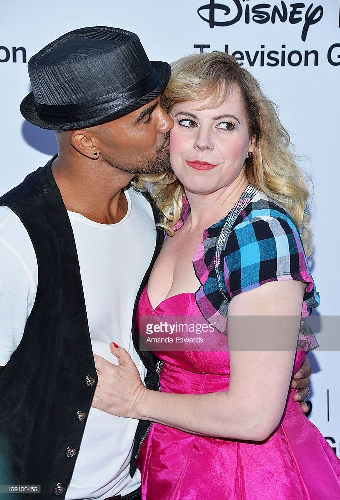 Actor Shemar Moore (L) and actress Kirsten Vangsness arrive at the Disney Media Networks International Upfronts at Walt Disney Studios on May 19, 2013 in Burbank, California.