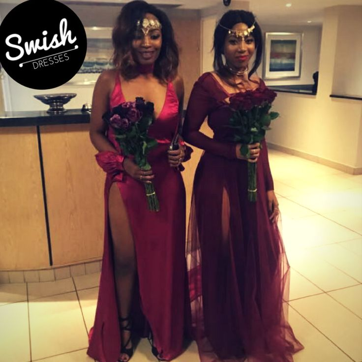 Jessie & Reba in their custom Swish Matric dance gowns.