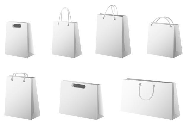 Plantillas de bolsas de papel