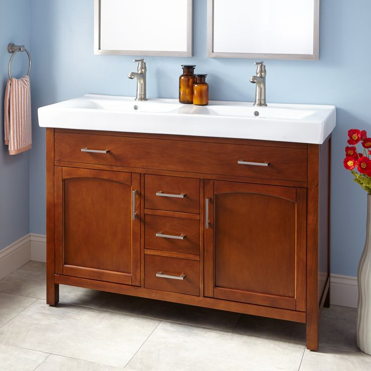 "48"" Owens Double Vanity - Walnut - Bathroom Vanities - Bathroom"