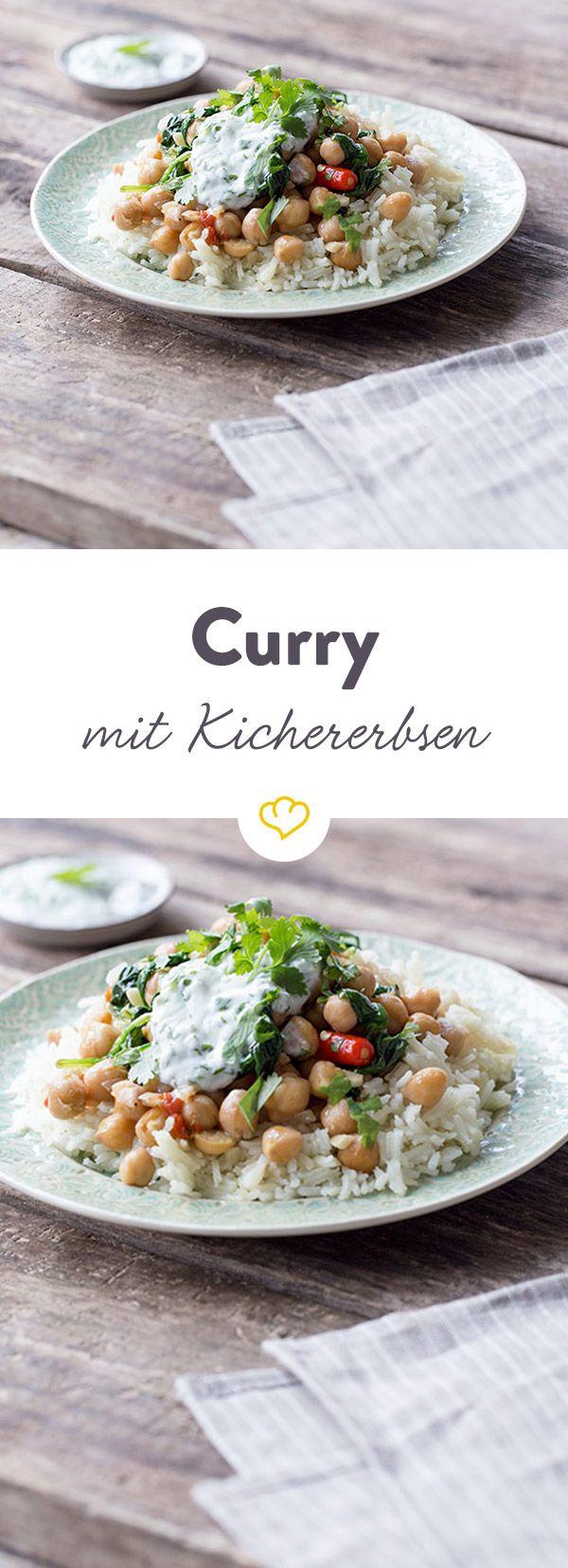 Kichererbsen, zartes Gemüse und ein paar feine Gewürze - mehr braucht ein Curry nicht um richtig lecker zu werden. Probier es gleich aus!