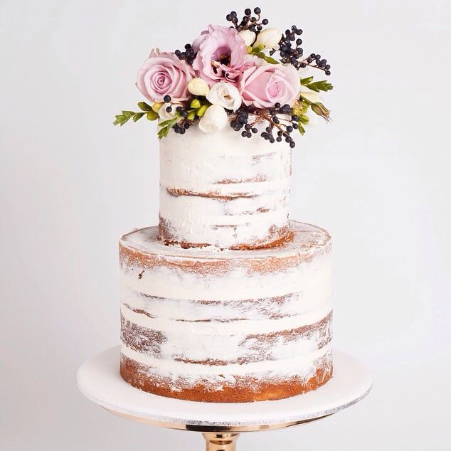 Sweet And Simple Naked Wedding Cakes: The 25+ Best Two Tier Cake Ideas On Pinterest