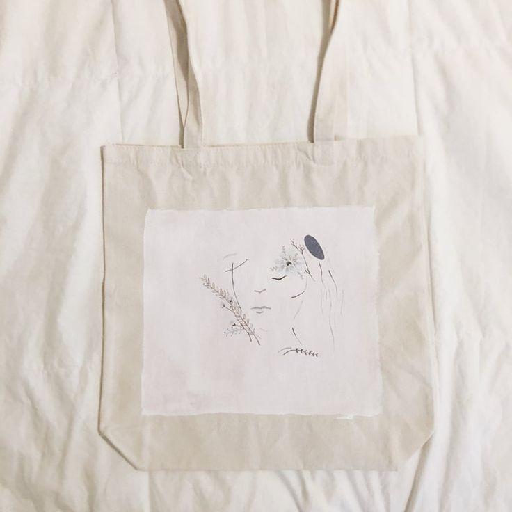 Design pintado à mão de Heidi do ~ da sacola
