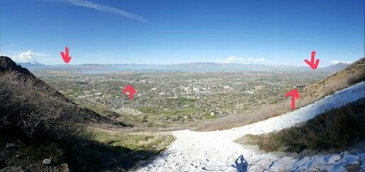 Today (2016/04/12) I hiked #Ymountain and from the top you can see 4 #LDStemple. A #bbrilliance #hike with my best friend. #BYU #Provo #ProvoCity #Payson #MountTimpanogos #Temples