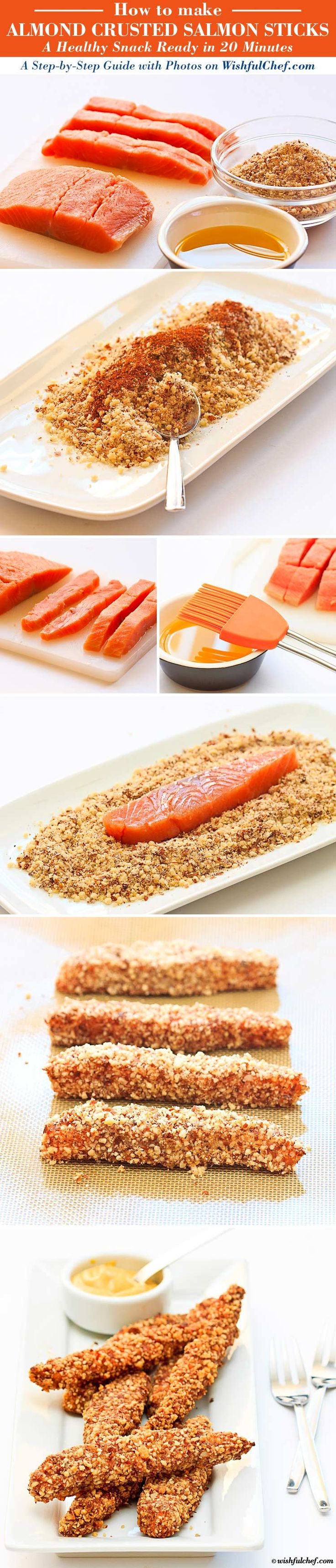Almond Crusted Salmon Sticks - A Healthy Snack in 20 Minutes