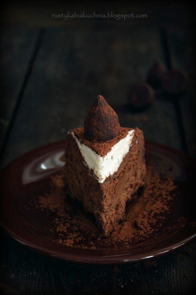 rustic kitchen - cooking at home: Chocolate truffle cheesecake