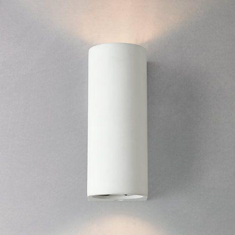 Buy John Lewis Milo Wall Uplighter, White Online at johnlewis.com h180 w65 2x20w halogen £45 plaster