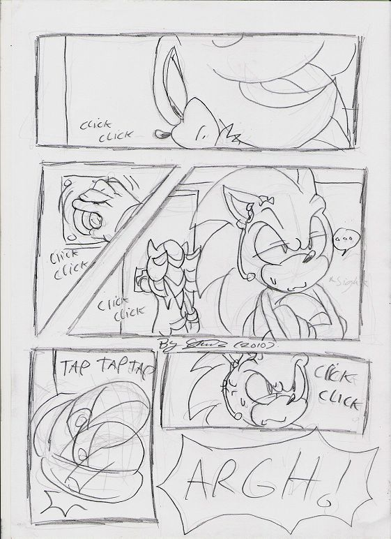 page 6... again, doesn't need lines. Artwork and story (c) shade/soina/f-sonic Characters (c) SEGA/sonic team