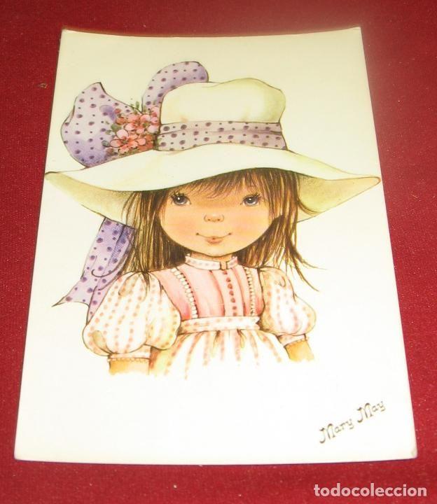 Nina Con Sombrero Ilustracion De Mary May Nº 248 1 Pagsa Ano 1983 Postales Dibujos Y Caricaturas Ninos Dibujos Mary May