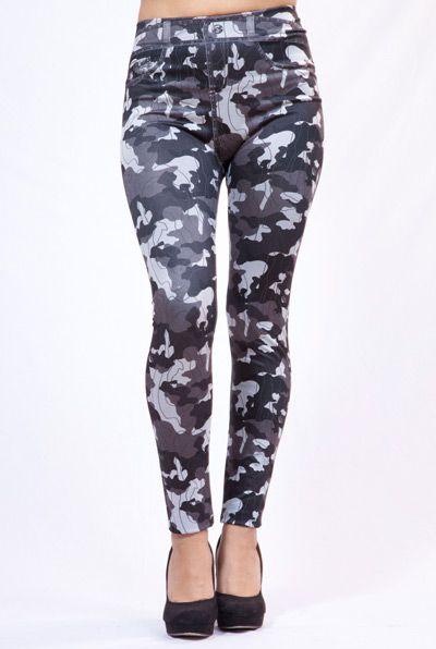 Legging Camuflaje Grey #leggings #moda #fashion #leggingmania #camuflaje