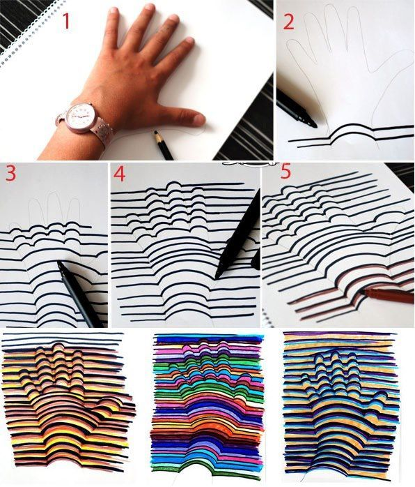 How to Make 3D Hand Drawing tutorial and instruction. Follow us: www.facebook.com/fabartdiy