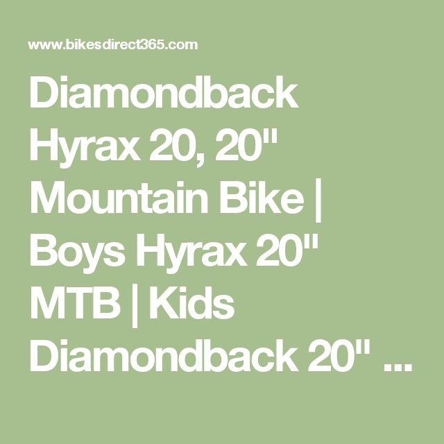 "Diamondback Hyrax 20, 20"" Mountain Bike | Boys Hyrax 20"" MTB | Kids Diamondback 20"" Mountain Bike | Bikes From Bikes Direct 365"