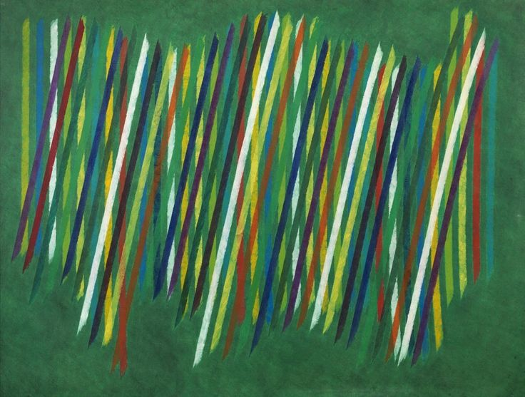 "Piero Dorazio (1927, Rome – 2005, Perugia), ""Nel cuore verde"", 1965, oil on canvas, cm 158x197 - Courtesy Tornabuoni Art.   #PieroDorazio #ItalianArt #ItalianMasters #TornabuoniArt #Art"