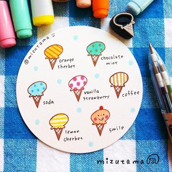 Mizutama ice-cream stamp