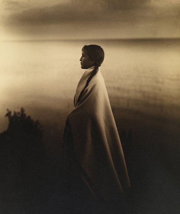Portrait of an Ojibway, or Chippewa Indian girl in 1907, by Roland W. Reed.