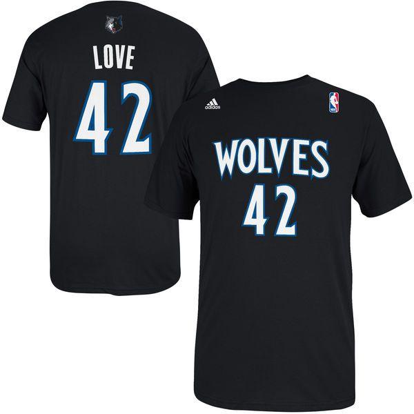 Kevin Love Minnesota Timberwolves adidas Net Number T-Shirt – Black - $13.99