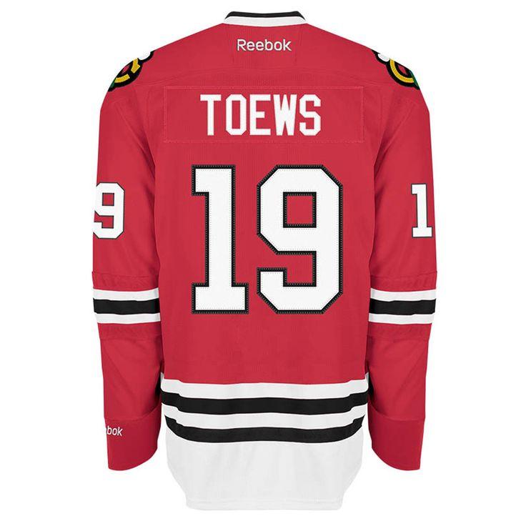Chicago Blackhawks Mens Jonathan Toews Red Home Premier Jersey by Reebok #Chicago #Blackhawks #ChicagoBlackhawks #Toews #CaptainSerious