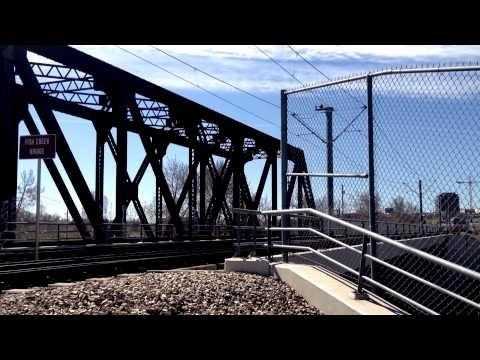 Happens hundreds of time a day, The CTrain crosses Fish Creek Bridge.