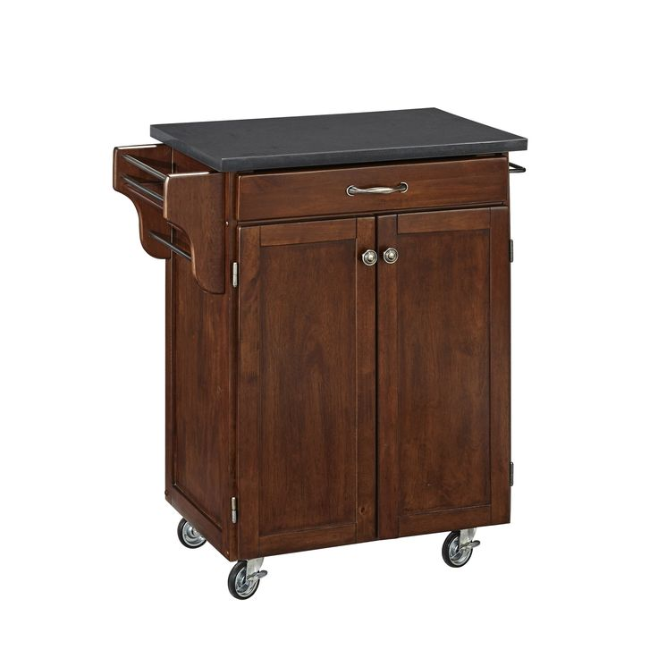 Home Styles Cuisine Cart in Rustic Cherry Finish (Cuisine Cart in Rustic Cherry Finish), Grey