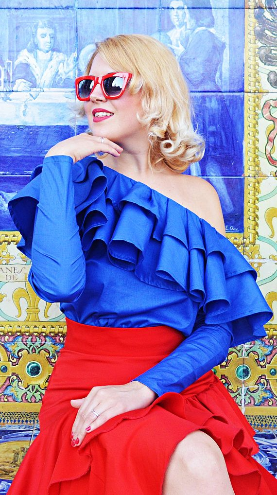 Royal Blue Cotton Top Extravagant Off Shoulder Royal Blue https://www.etsy.com/listing/533702715/royal-blue-cotton-top-extravagant-off?utm_campaign=crowdfire&utm_content=crowdfire&utm_medium=social&utm_source=pinterest