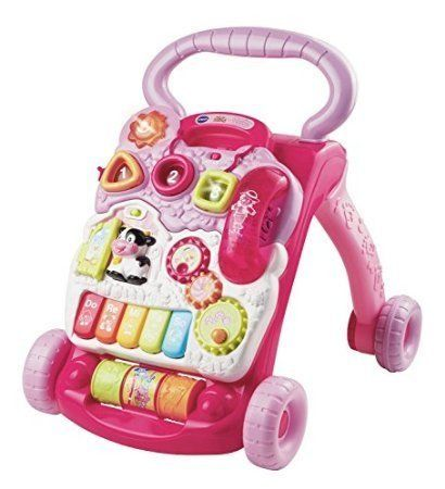 VTech 80-077050 Sit-to-Stand Learning Walker-Pink Toy ...